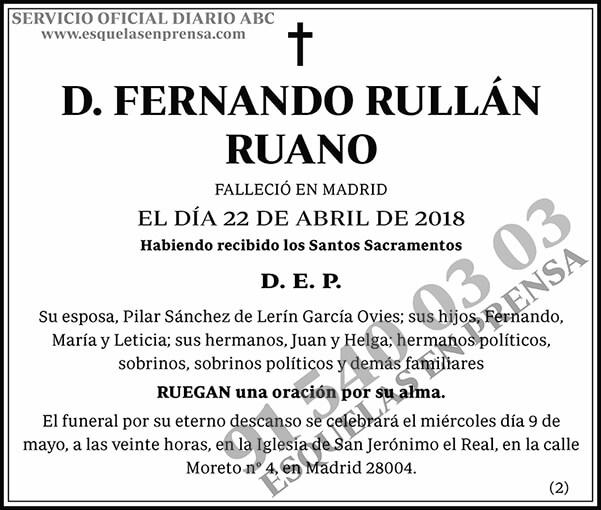Fernando Rullán Ruano